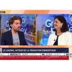 CHarlotte Dennery, CEO de BNP Paribas Leasing SOlutions, dans l'émission Green Reflex